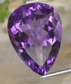 Pear-Shaped Amethyst Gemstone