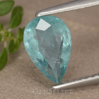 1.32-Ct, Pear-Shaped, Faceted Grandidierite Gemstone