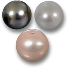 Undrilled, Half-Drilled and Fully-Drilled Pearls