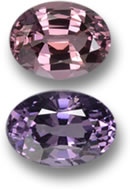 Pink and Purple Spinel Gems