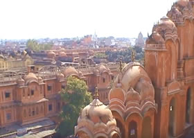 Jaipur, the Pink City from the Palace of the Winds