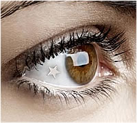Platinum Star Eye Gem Implant