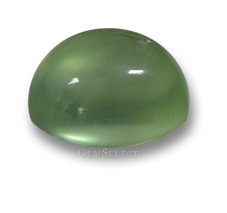 yellow gemstone prehnite oval cabochon