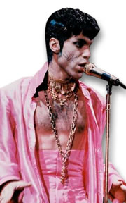 Prince in Pink with Gold Necklaces