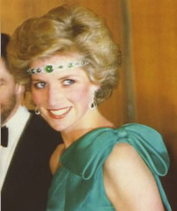 Princess Diana in an Emerald Tiara/Headband