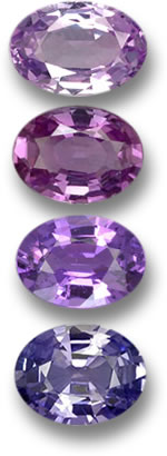 Purple And Violet Gems For Jewelry