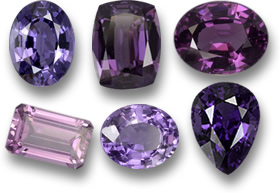 Purple Spinel Gemstones
