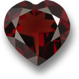 Heart-Shaped Pyrope Garnet Gem