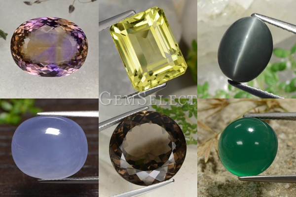 Some of the Many Quartz Gemstones