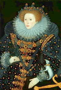 The Ermine Portrait of Elizabeth I Showing the Three Brothers Pendant