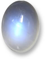 White Rainbow Moonstone Gemstone