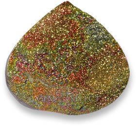 Multicolor rainbow pyrite gemstone