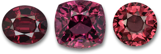 Red Rhodolite Garnet Gemstones