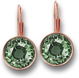 Rose Gold and Green Sapphire Drop Earrings
