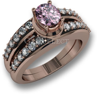 Rose Gold Pink Spinel Ring