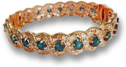 Rose Gold, Sapphire and Diamond Bracelet