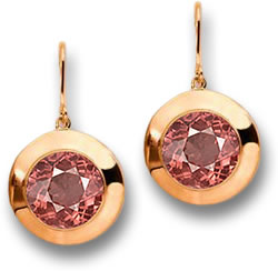 Rose Malaya Garnet Bronze Earrings