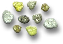 Rough White, Yellow and Brown Diamonds