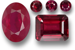 Various Ruby Gemstones
