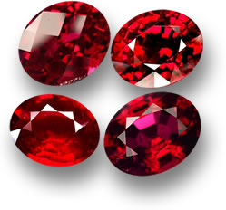 Loose Red Spinel Gems