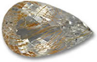 Pear-Shaped Rutile Topaz