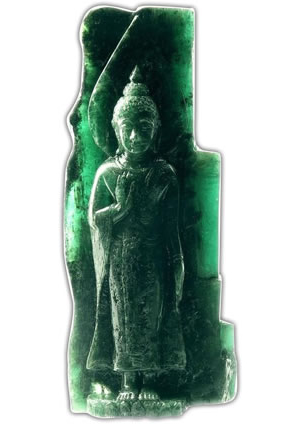Sacred Emerald Buddha Carving