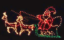 Santa's Sleigh in Lights