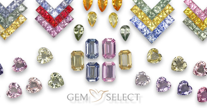 Multicolored Sapphire Lots for Jewelers from GemSelect