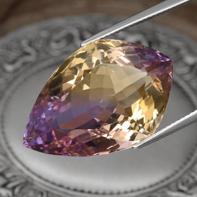 Shield-Shaped Ametrine Gemstone