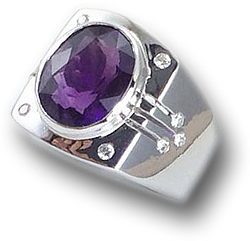 Men's Purple Amethyst Ring