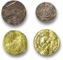 Silver Viking Coins and Gold Roman Coins