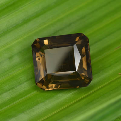 Octagonal, Scissor-Cut Smoky Quartz Gemstone
