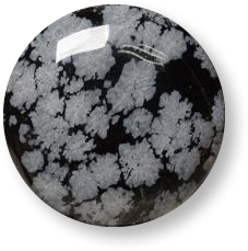 Multicolor snowflake obsidian gemstone