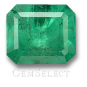 Faceted Colombian Emerald