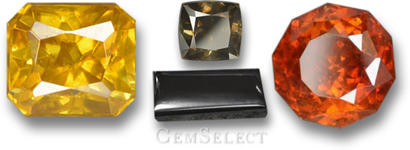 Sphalerite, Diamond & Hematite - Gems with High Refractive Indices