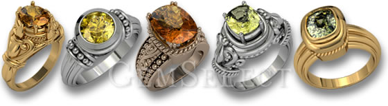Sphene Rings by GemSelect