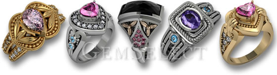 Spinel Rings by GemSelect
