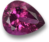 Pear-Shaped Rubellite Tourmaline Gem