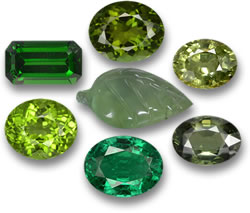 Browse our green gemstones