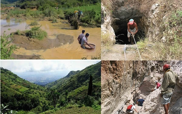 Photo of Sapphire Mining in the Uluguru Mountains