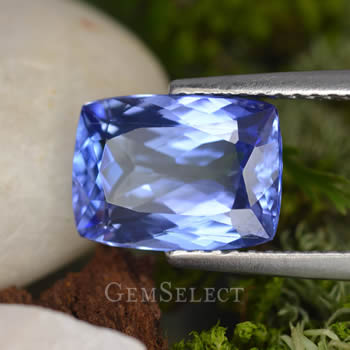 Cushion-Cut Tanzanite Gemstone