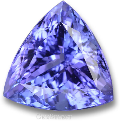 Violet-Blue Tanzanite Trillion
