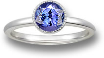 Tanzanite Solitaire Engagement Ring