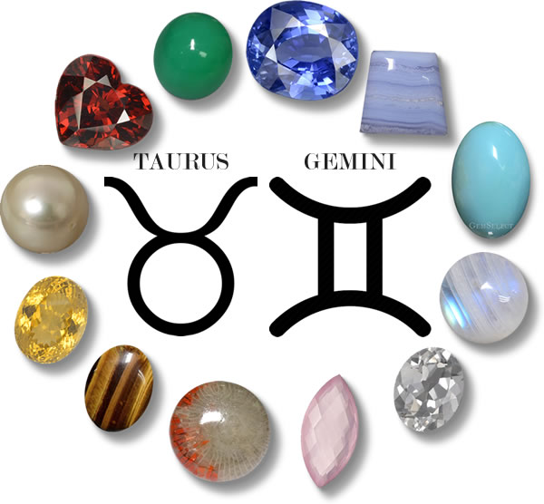 Taurus and Gemini Gemstones from GemSelect - Large Image