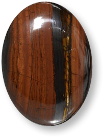 Multicolor tiger's eye matrix gemstone