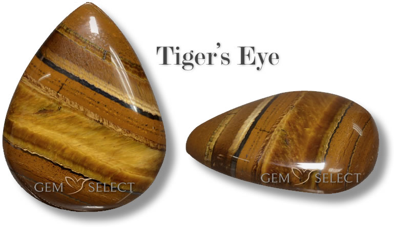 A photo of Tiger's Eye Gemstones from GemSelect - Large Image