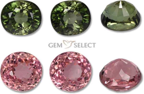 A Photo of Tourmaline Gemstones from GemSelect