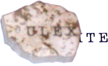 Ulexite Rough Transmitting Text