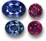 Unheated Ruby and Unheated Blue Sapphire