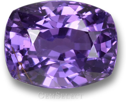 Unheated Purple Sapphire with Natural Inclusions